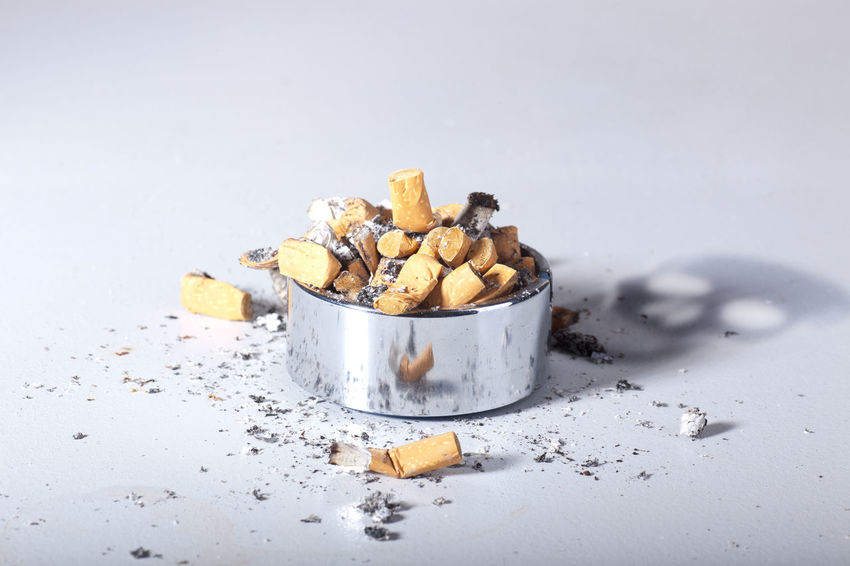 Bad Habit Cigarette Butt Close-up Day Food Large Group Of Objects No People Stack White Background