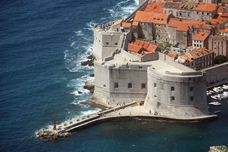 Dubrovnik, Croatia. Most popular travel destination in Adriatic sea. Adriatic Sea Architecture Boat Built Structure Calm City Croatia Dalmatia Dubrovnik Fortress Harbor Medieval Mediterranean  Old Peaceful Residential District Sea Stone Tourism Travel Destinations Wall Water