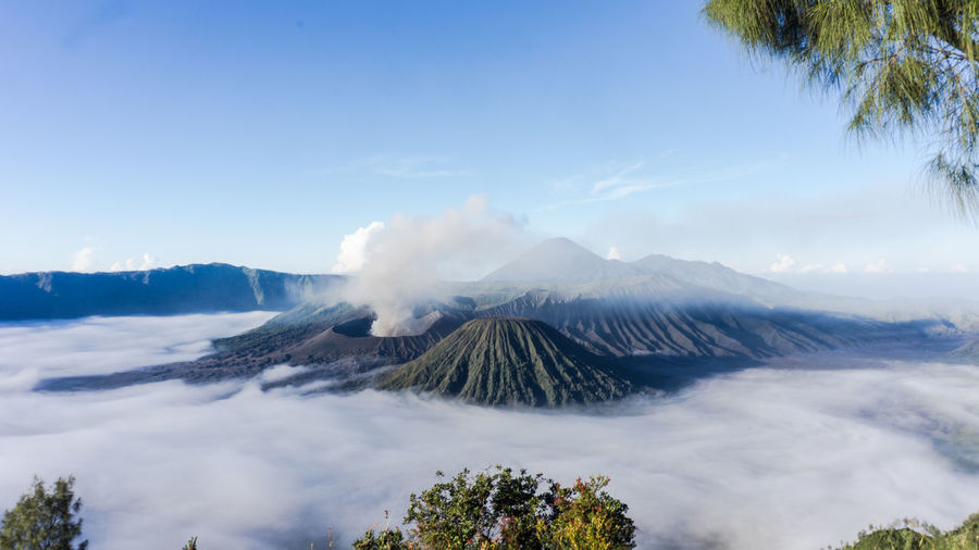 Mount Bromo Beauty In Nature Cloud - Sky Day Landscape Mountain Nature No People Outdoors Physical Geography Power In Nature Scenics Sky Smoke - Physical Structure Tranquil Scene Tranquility Travel Destinations Volcanic Landscape Volcano The Great Outdoors - 2017 EyeEm Awards