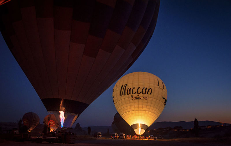 Adventure Air Vehicle Ballooning Festival City Clear Sky Day Flying Hot Air Balloon Leisure Activity Lifestyles Nature Outdoors Real People Sky Transportation