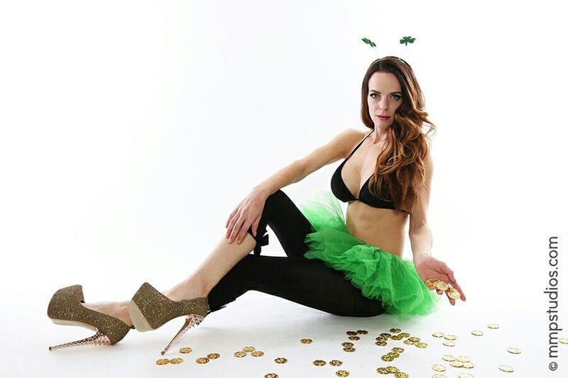 @mmpstudios_com @melvinmaya Photography Photoshoot Model Ombre Hair St. Pattys Day Tutu Tights Random People Followforfollow