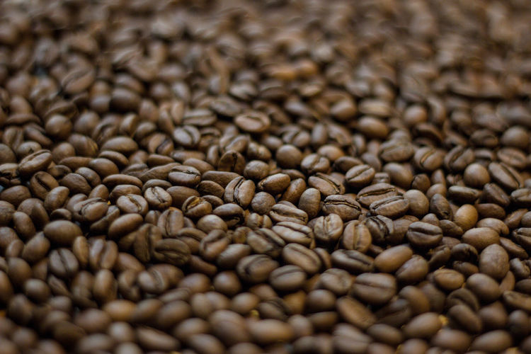 Food And Drink Backgrounds Food Full Frame Freshness Large Group Of Objects Selective Focus Roasted Coffee Bean Coffee Close-up Brown Abundance Coffee - Drink No People Still Life Indoors  Drink Coffee Bean Seed Raw Food Caffeine Textured Effect Legume Family