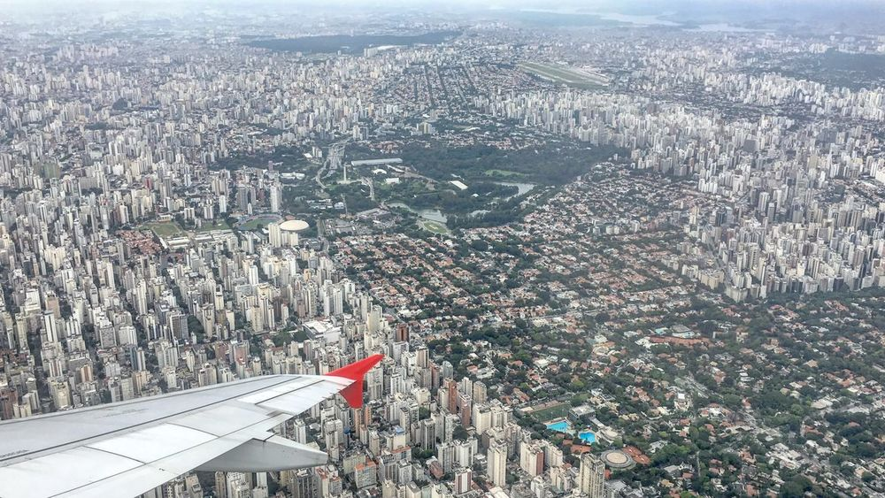 Aerial View Architecture Architecture Brasil Brazil Building Exterior Built Structure City Cityscape Congonhas Day Ibirapuera IPhoneography Landscape LATAM AIRLINES No People Outdoors Patriotism Paulista Avenue South America São Paulo TakeOff Travel Travel Destinations