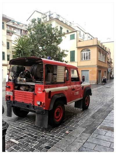 Jeep dei Vigili del fuoco. Fire brigade vehicle. Fire Engine Transportation Tree Land Vehicle Rescue Outdoors Day No People Car Fuoristrada Jeep Bomberos Feuerwehr Pompieri Vigili Del Fuoco  115