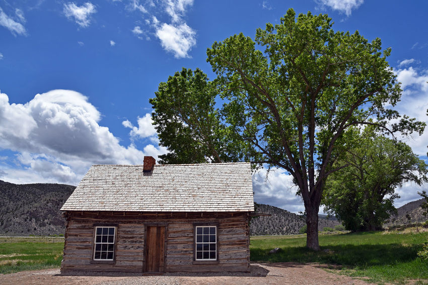 Butch Cassidy's childhood home near Circleville Utah, USA Home Utah Architecture Building Building Exterior Built Structure Butch Cassidy Cloud - Sky House Tree
