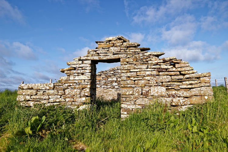 Croft ,Harray, Orkney Islands Scotland Bygone Times Farm Scotland Architecture Building Built Structure Cloud - Sky Croft Crofter's Cottage Day Field Grass History Land Moss And Lichen Nature Plant Remote Rural Scene Sky Stone The Past Tourism Travel Destinations Village Life