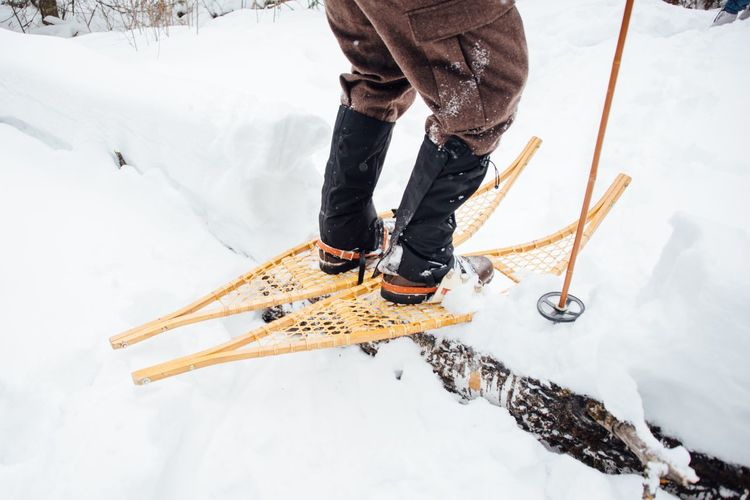 Snowshoeing Snowshoe EyeEm Selects Winter Snow Cold Temperature Low Section Human Leg One Person Day Human Body Part Men Outdoors Sport One Man Only Warm Clothing Standing Nature People