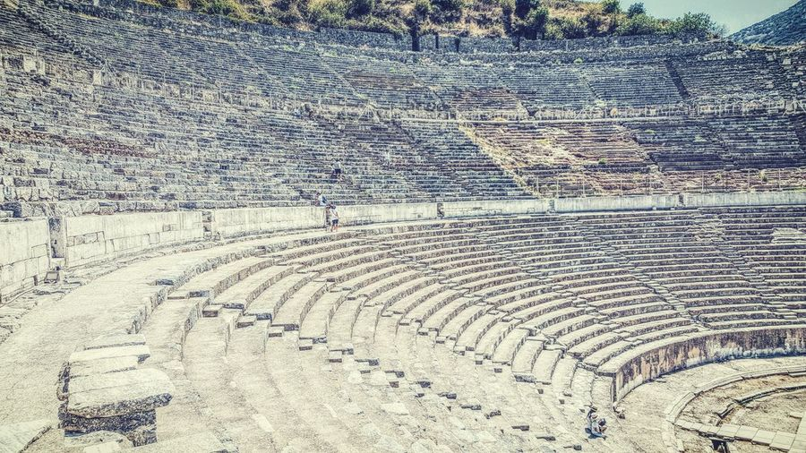 Scenics Historic Ampitheater Ampi Ambiente Full Frame Outdoors Repetition The Past Tranquility Ancient Stone Material Day Amphitheater History Tranquil Scene Nature Black And White Scenics