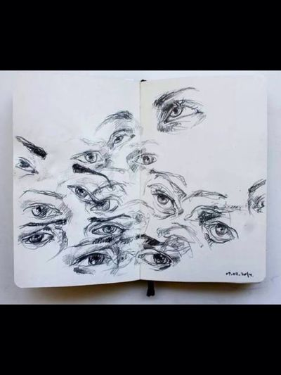 Eyes Dessin Crayon Eyes Are Soul Reflection