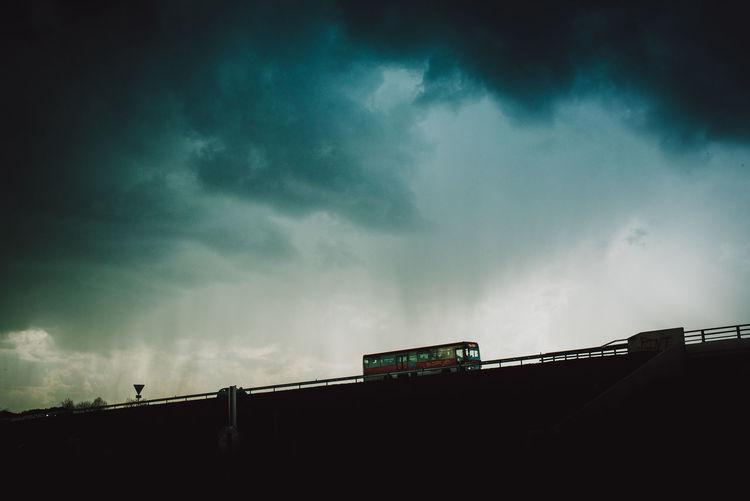 Darkness Storm Bus Clouds Sky Storm Cloud Tempête