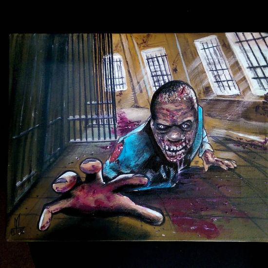 Thewalkingdead Zombie Oil Painting Painting Check This Out Tattooartist  Fullcustomtattoo Torstenmatthes Mrttattoo