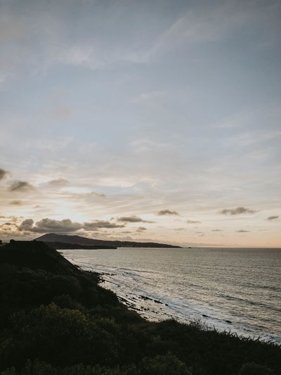 Water Scenics - Nature Sky Sea Beauty In Nature Cloud - Sky Tranquil Scene Tranquility Land Beach Nature No People Sunset Horizon Horizon Over Water Outdoors Idyllic Day Non-urban Scene