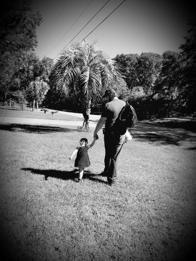 Two People Togetherness Real People Shadow Father Fun Leisure Activity People Day Outdoors Sand Beach Adult Full Length Friendship Child Water Nature Sky Florida Walking Home From School Father Daughter Moments Bnw_friday_eyeemchallenge Perspectives On Nature Perspectives On People This Is Masculinity Inner Power