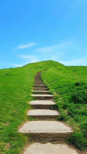 The Great Outdoors With Adobe Sky English Countryside Stairs In Nature Outdoor Photography Landscape Clouds And Sky Hill Nature Blue Sky Walking Stairs Lost In The Landscape A New Beginning
