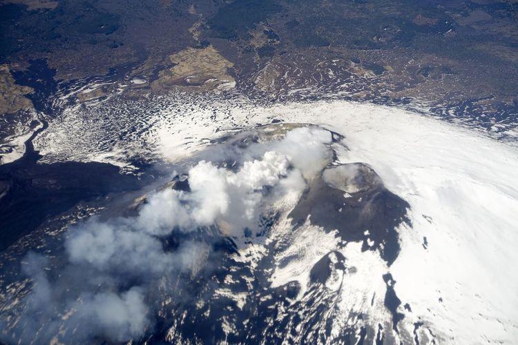 Active Volcano Etna Volcano No People Snow Volcano Vulcan Vulcanic Landscape Vulcano