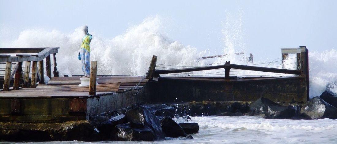 Enjoying Life Summertime Beachphotography Bridge Lifeisabeach Summer Fujifilm Sea Waves Crashing Rome