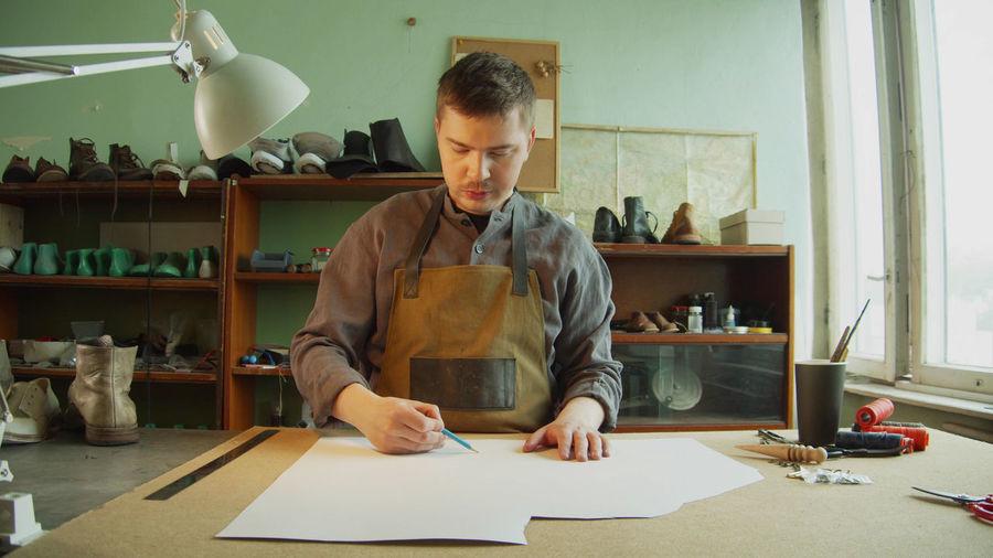 Man working in workshop
