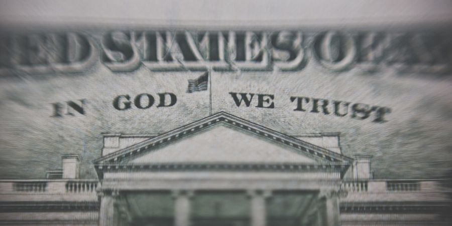 In God we trust American USD USD Usdollar Dollars Us Money Currency Cash American Pay Bank Note Exchange Rate In God We Trust White House