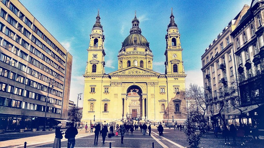 St.istvan Basilica Budapest Squeare Chapel City Sky Architecture Building Exterior Built Structure