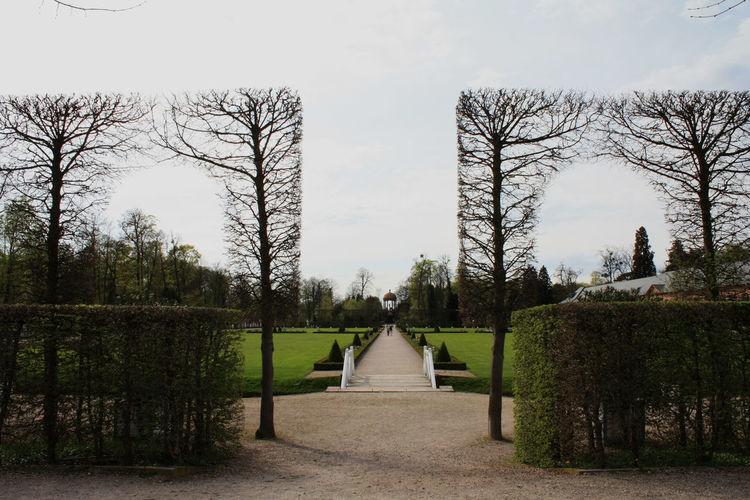 Topiaries At Park Against Sky