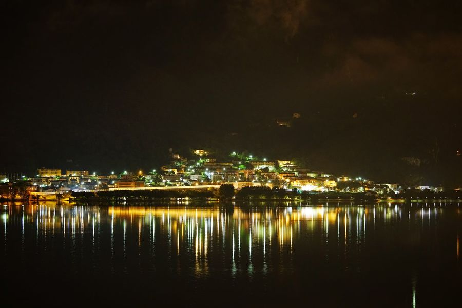 Cities At Night Night Sky Lago Lake Lecco Lake Temporale Nuvole Lake View Notte Nuvoloso