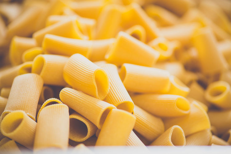 Close-Up Of Pasta In Factory