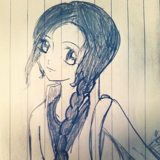 Old Drawing Woman Katniss Everdeen Catnip Hunger Games HG Catching Fire CF Mockingjay Smile Cute Creative Work Art Manga Sketch