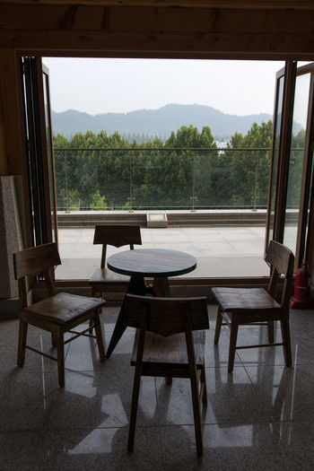 Juknokwon, the famous bamboo park in Damyang, Jeonnam, South Korea Damyang Juknokwon Architecture Bamboo Park Built Structure Chair Day Home Interior Indoors  Nature No People Sky Table Tree Water Window