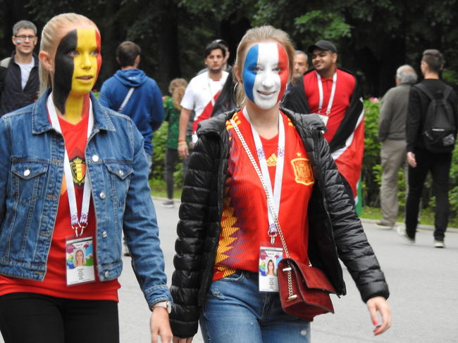 France+Belgium France+Belgium France France🇫🇷 Summer Sankt-peterburg Sankt-Petersburg Colors Of Sankt-Peterburg Russia Belgium Girls Flags Friendship World Cup 2018 Game Football Fans Young Women Portrait Group Of People The Photojournalist - 2018 EyeEm Awards The Creative - 2018 EyeEm Awards Love The Game