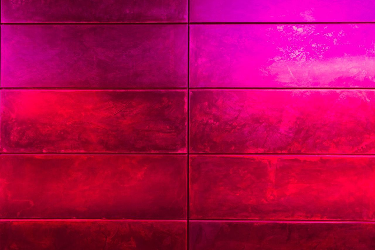 full frame, pattern, backgrounds, tile, textured, wall - building feature, flooring, no people, red, indoors, built structure, close-up, purple, square shape, design, shape, architecture, multi colored, geometric shape, pink color, tiled floor
