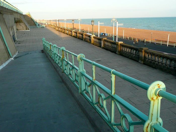 Built Structure Day Horizon Over Water Nature No People Outdoors Railing Sea Sky Tranquility Water Brighton Brighton Seafront Brighton Sea Front
