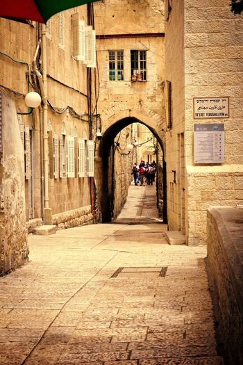 Jerusalem Israel History Historic Historical Building Antique Tourism Street Oldtown Oldbuilding Architecture Built Structure The Way Forward Building Exterior Walkin
