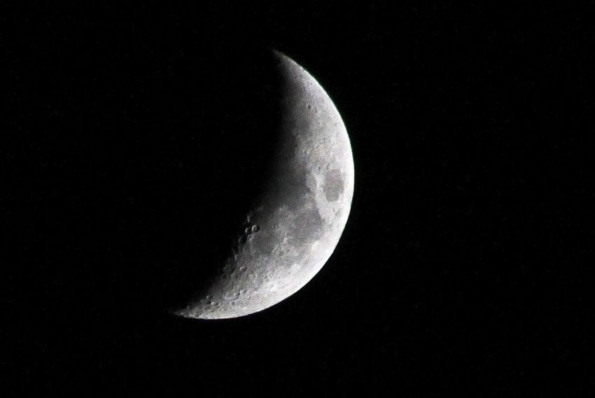 Luna lunera cascabelera Space Night Astronomy Moon Sky Beauty In Nature Moon Surface Half Moon Scenics - Nature Tranquility Space And Astronomy Low Angle View Moonlight Majestic Crescent Selenitas Luna Lunar Espacio Cosmos Saltélite Satellite View Satellite Luna Lunera Selenio