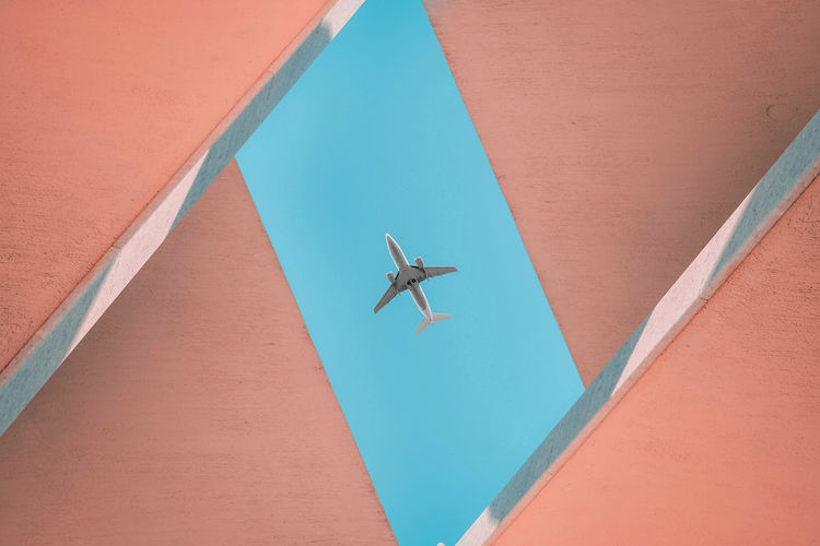 Low angle view of a airplane