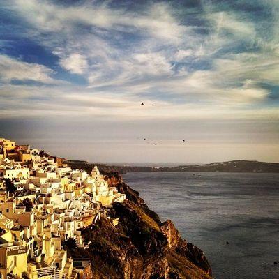 A great day in Santorini Greece Sunset Sunsetporn Island Aegeansea Ig_greece Insta_europe