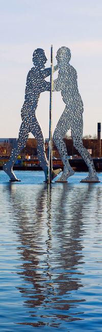 Berlin Berlin Photography Blue Sky Molecule Man Molecule Men Moleculeman MoleculeMen No People Reflection Reflections Sight Spree Spree River Water