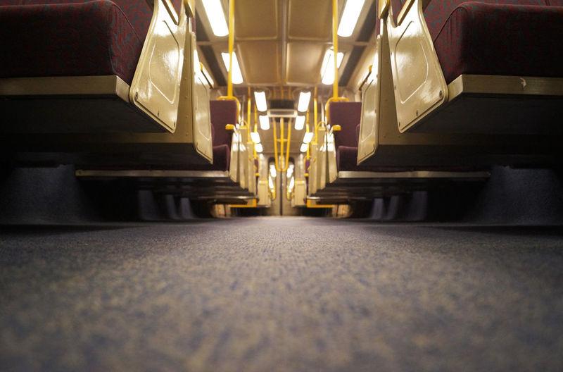 lonely train ride All Alone Austrlia Brisbane Carpet - Decor Carpet Design Day Empty Free Sit Illuminated Indoors  No People Publictransport Railway Sbahn Teppich The Way Forward Train Train Compartment Trains Travellingbytrain Wagon  öffis