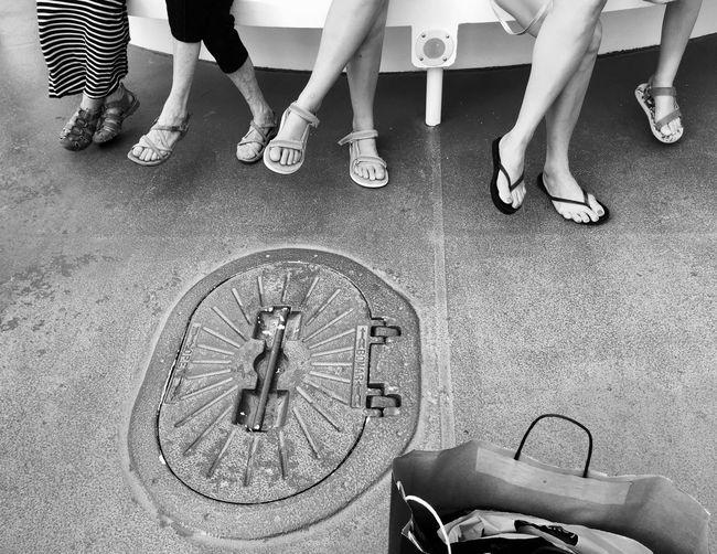 Summer Feet Sandals Summer Feet Black And White Black And White Photography Blackandwhitephoto Body Part Flipflops Group Of People Human Body Part Human Foot Human Leg Human Limb Leg On Leg Low Section Shoe Siiting Summer Women Women Weet