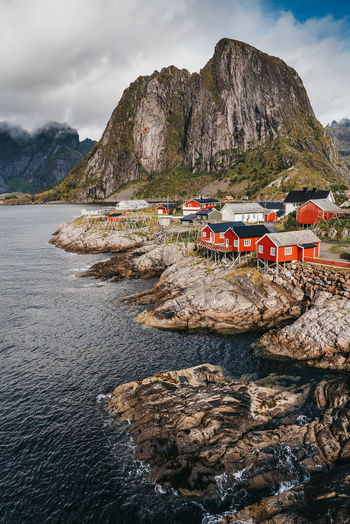 The majestic scenery of the Lofoten and Senja in Northern Norway. Lofoten Lofoten Norway Norway Norwegian Oslo Scandinavia Scandinavian Landscape Nature Mountain Sea Ocean Village Clouds Sky Beach Mountains And Sky Scenic Iconic Creative Nordic Views Travel Destinations Majestic Sunset