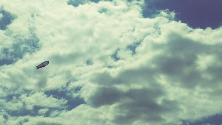 Blimp Sky Blue Sky Clouds And Sky Hello World Flying High