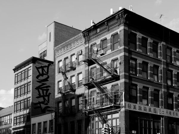 NYC NYC LIFE ♥ NYC Photography NYC Street NYC Street Photography Architecture Balcony Bowery Building Exterior Built Structure City Day Fire Escape Low Angle View No People Outdoors Residential Building Sky Window