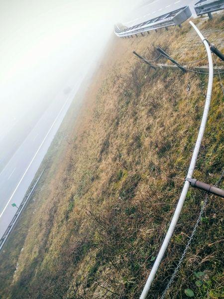 Afsluitdijk richting Noord Holland ... Fog...