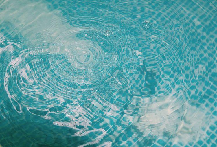 Full frame shot of rippled water in swimming pool
