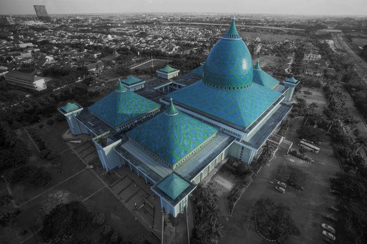 Al-Akbar Al-akbar Mosque Duotone J Jawa Timur Masjid Mosque Surabaya Surabaya City