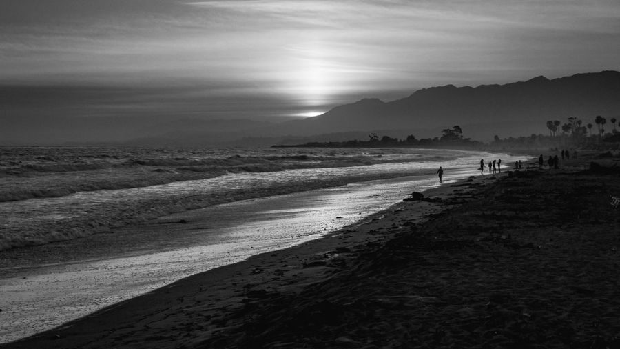 Lost in Cali Sea Water Land Beach Sky Nature The Great Outdoors - 2018 EyeEm Awards Tranquil Scene Sand Walking Sunlight Scenics - Nature