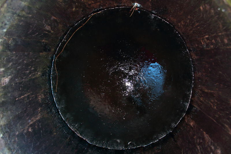 Beauty In Nature Circle Cooper Cooperage Eye Fish-eye Lens From My Point Of View Frozen Galaxy Ice Ice Crystals Iris Milky Way Night No People Outdoors Perfect Circle Pupil Space Star - Space Stillness Whisky Barrel Wooden Barrel Zen Minimalism