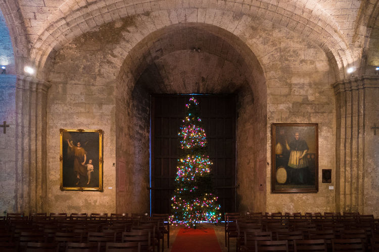 Christmas Christmas Lights Church Cuba Havana Arch Architecture Built Structure Christmas Tree Decoration Indoors  No People