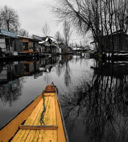 Towards Meena market in dal lake Water Transportation Beauty In Nature Kashmir Is Heaven