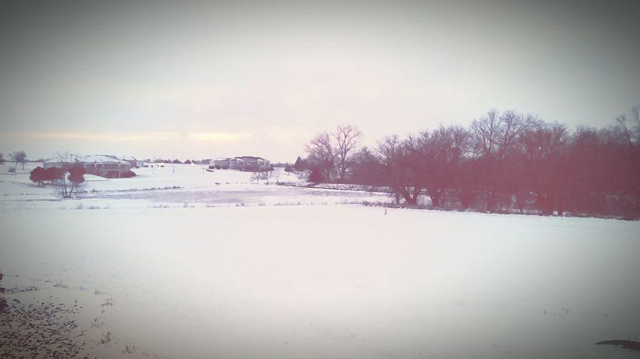 WorkLife Greatview Outmyofficewindow Nebraska HeMakesBeautifulThings GodIsGood Lovethisplace Snow Lake White