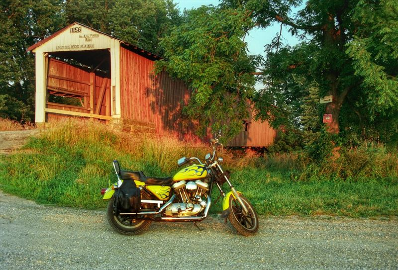 Harley-Davidson and a covered bridge EyeEm Best Shots Color Photography Color Taking Photos Harley Davidson Harleydavidson Motorcycle EyeEmBestPics Harley Biker CoveredBridge Motorcycles HarleyDavidsonMotorcycles Harley Davidson Sportster Harley-Davidson Harleydavison Taking Pictures Motorcycle Photography Bikers Editorial  Editorial Photography Biker Life Cool Bridge Photography